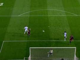 La tête magnifique de Ronaldo en finale de Copa del Rey contre Barcelone. DUGOUT