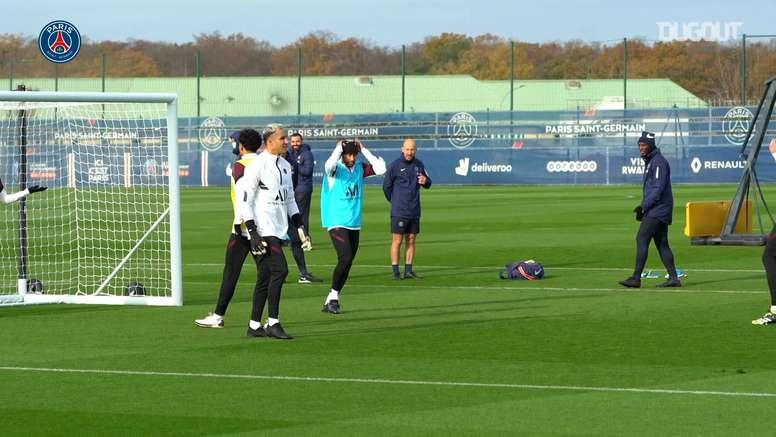 Neymar Jr's training session before RB Leipzig clash. DUGOUT