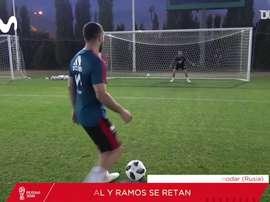 Ramos e Carvajal se enfrentam em desafio de pênaltis. DUGOUT