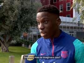 Ilaix Moriba é recém-promovido no Barça. DUGOUT