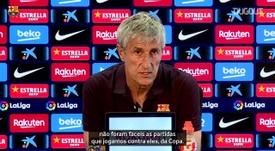 Setién prevê duelo difícil para o Barça contra o Athletic Bilbao. DUGOUT