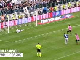 I primi goal con la Juventus. Dugout
