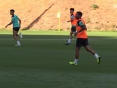 Mérida was training for Espanyol. DUGOUT