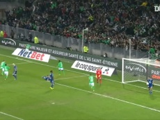 St Etienne were 2-0 victors over Lyon in a Ligue 1 game in 2017. DUGOUT