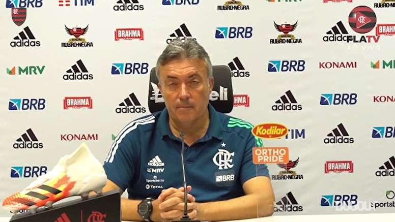Domènec analisa empate do Flamengo com Bragantino. DUGOUT