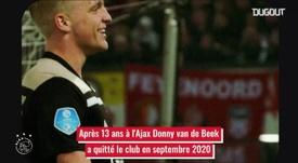 Van de Beek de l'Ajax 'a United. Dugout