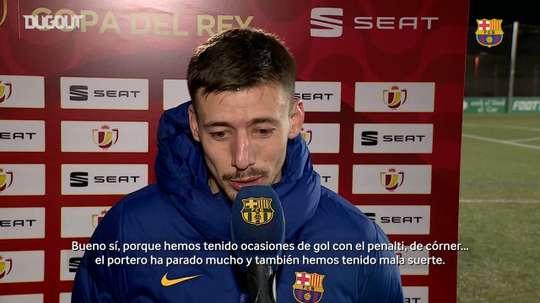 Lenglet analizó la victoria del Barça. Captura/DUGOUT