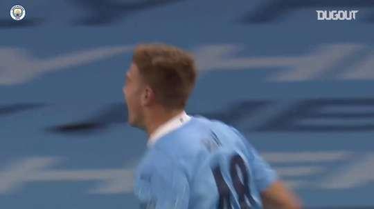 Delap scored on debut for City