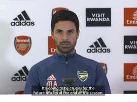 Arteta talks about the upcoming match. DUGOUT