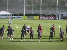 La conferenza stampa e l'allenamento dei bianconeri alla vigilia di Juventus-Lione
