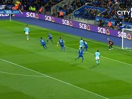 Kevin de Bruyne scored a great goal as Man City beat Leicester 0-2 back in 2017. DUGOUT