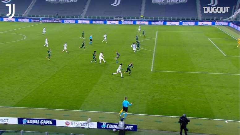 Alvaro Morata's goal saw Juventus qualify for the Champions League last 16. DUGOUT