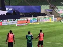 Pedro faz gol no empate do Flamengo com Palmeiras. DUGOUT