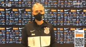 Tiago Nunes exalta solidez do setor defensivo do Corinthians. DUGOUT