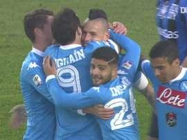 Higuain scored twice as Napoli won at Atalanta back in 2015. DUGOUT