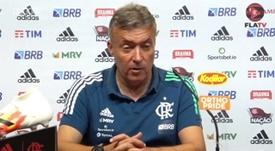 Domènec Torrent vive momento de questionamentos no comando do Flamengo. DUGOUT