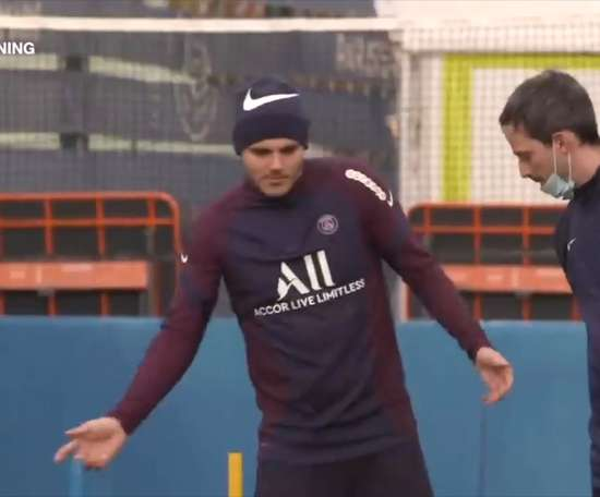 Icardi and Veratti were in training. DUGOUT