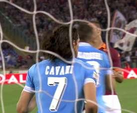 Le dernier but de Cavani avec Naples. DUGOUT