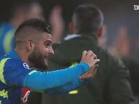 Napoli e seus gols na Liga dos Campeões de 2019/20. DUGOUT