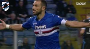 Fabio Quagliarella scored twice as Sampdoria beat SPAL 2-0 back in 2017. DUGOUT