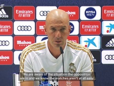 Zidane spoke to the media. DUGOUT