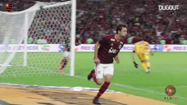 Rodrigo Caio, goleador inesperado ante Corinthians. DUGOUT