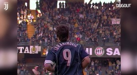 Ibra's first Serie A hat-trick. DUGOUT