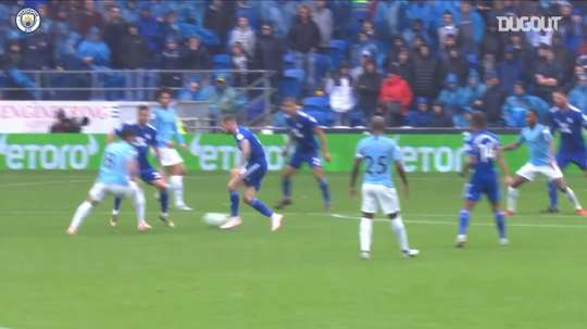 Gündogan metió un gran gol ante el Cardiff City. Captura/Dugout