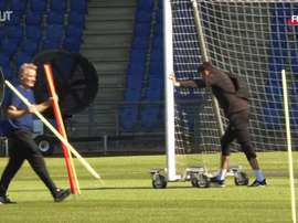 VIDEO: Basel captain Valentin Stocker discusses training return. DUGOUT