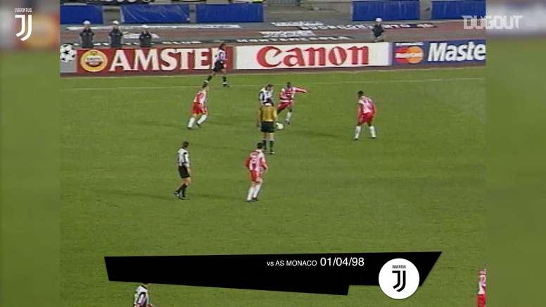 Juventus e seus gols contra equipes francesas na Itália. DUGOUT