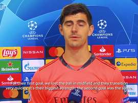 Courtois spoke after the match. DUGOUT