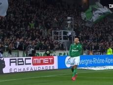 Wahbi Khazri scored twice as St Etienne beat Nimes in Ligue 1. DUGOUT