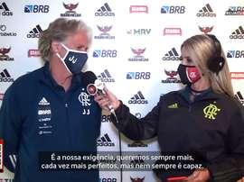 JJ elogia desempenho dominante do Flamengo contra o Boavista. DUGOUT