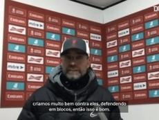 Jürgen Klopp apontou pontos positivos após derrota para o Manchester United. DUGOUT