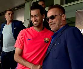 The Barca squad met the Hollywood legend. DUGOUT