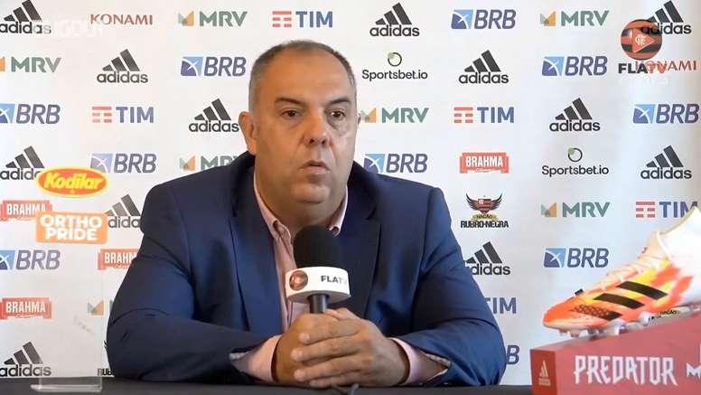 Marcos Braz diz que Flamengo tem confiança em reverter quadro atual. DUGOUT