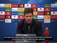 Simeone reconhece superioridade do RB Leipzig sobre o Atlético de Madrid. DUGOUT