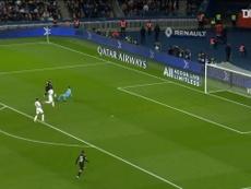 L'action de Neymar et Kylian Mbappé face à Montpellier. DUGOUT