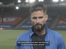 Olivier Giroud revient sur la victoire face à Palace. DUGOUT