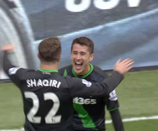 Bojan scored at Anfield for Stoke, but the Potters would go on to lose. DUGOUT