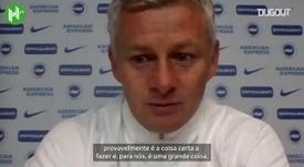 Solskjaer fala de pênalti após apito final em vitória do United. DUGOUT