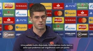 Pulisic comentou sobre a estreia do Chelsea na Champions League. DUGOUT
