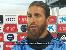 Sergio Ramos marcou um dos gols da vitória do Real Madrid contra o Eibar. DUGOUT