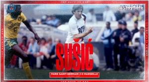 Les plus beaux buts du PSG inscrits en 1987. dugout