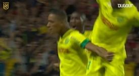 Yacine Bammou gave Nantes the victory over Lens. DUGOUT