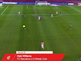 Inaki Williams' extra time stunner gave Athletic Bilbao the Spanish Super Cup. DUGOUT