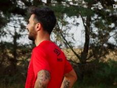 Ignacio Scocco treina em sua cidade natal na Argentina. DUGOUT