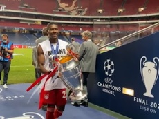 Bayern Munich were delighted after beating PSG in the Champions League final. DUGOUT
