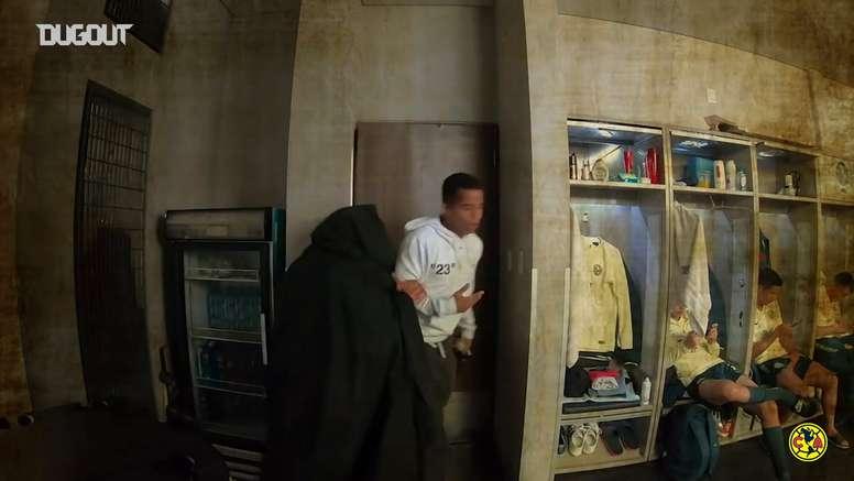 Club América's Halloween 2019 dressing room prank. DUGOUT