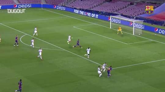 Lo straordinario goal di Messi contro il Napoli. Dugout